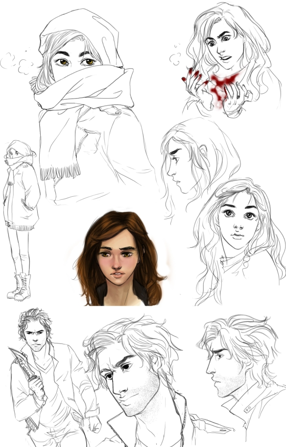 Character sketches for Temperance and Alastair (Legend Unleashed by MLR). Artwork by palnk