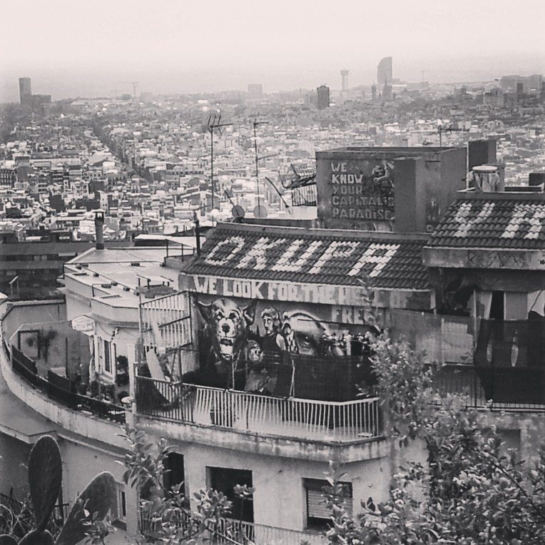A view of Barcelona from the climb!