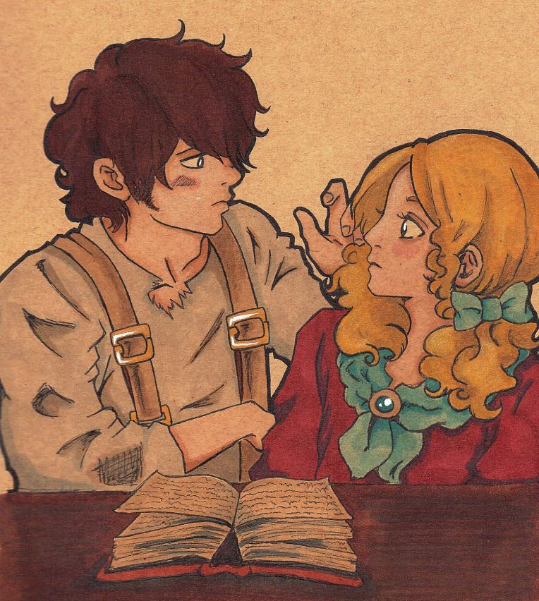 That part where Hareton is transfixed by Catherine and reaches out to touch her hair... *squee*