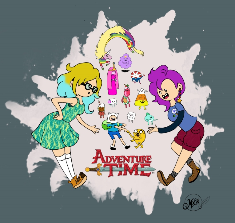 Our OC fangirls Pebble and Piccadilly are also discovering the wonders of Adventure Time!!